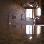 Porcelain and Glass Tile Kitchen Backsplash Remodel with SpectraLOCK