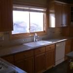 Porcelain Tile Kitchen Backsplash Installation with Glass Accents and SpectraLOCK