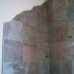 Slate master bathroom kerdi shower