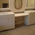 Bathroom Glass tile vanity backsplash in Fort Collins, Colorado