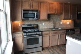 Porcelain subway kitchen backsplash in Fort Collins