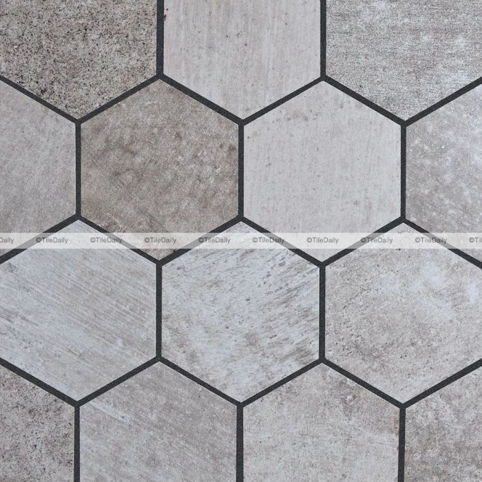 cement hex porcelain mosaic