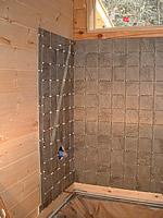 bath tub tile installation with