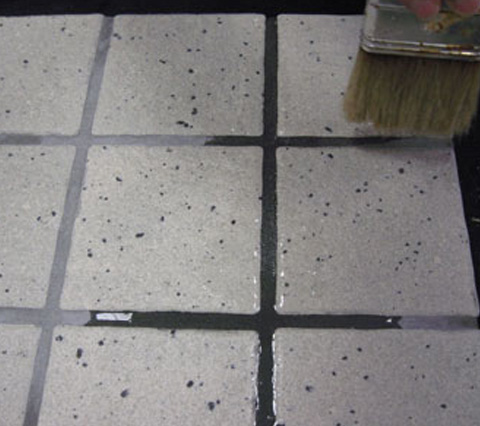 tile change grout color and update