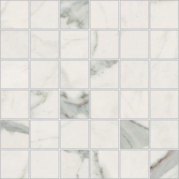 nb bianco apuano 2x2 mosaic porcelain tile