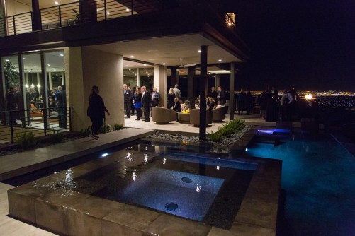 The pool area featured an abundance of mosaic and large format tile. Image courtesy of Tori Aston and Modenus.