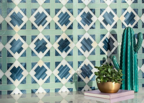 J Banks Collection for New Ravenna | Kubuni Jewel Glass Mosaic
