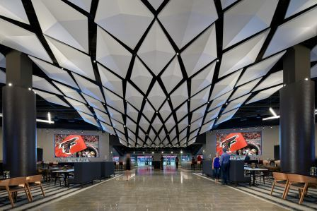 COMMERCIAL WINNER   2019 Ceramics of Italy Tile Competition Firm: tvsdesign Project: Mercedes-Benz Stadium Photographer: Brian Gassel