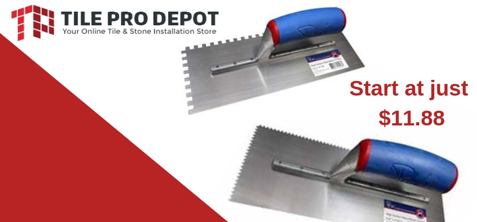 what size trowel for tile subway tile