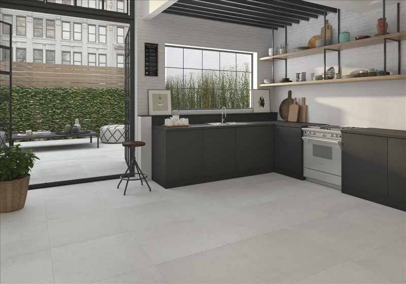 large formay grey porcelain floor tiles 100x100 project is a high tech porcelain collection that offers a smart surface solution in a neutral colour