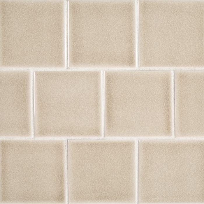 atlas sand bar 4x4 ceramic tile glossy crackle