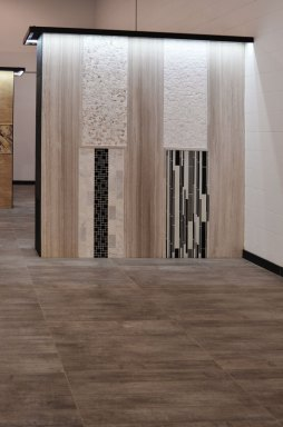 Installed product in the Stone Source - Tile Source International showroom