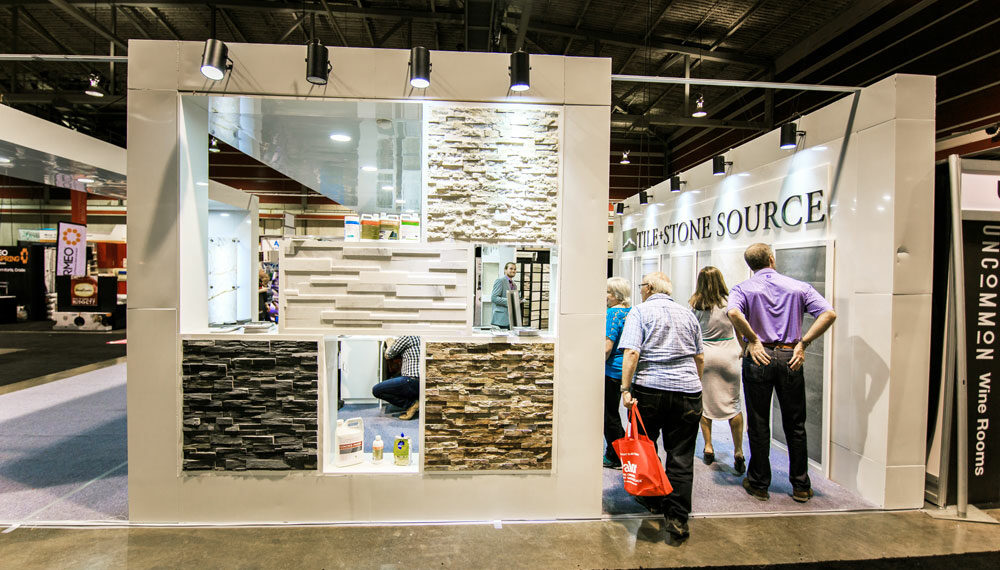 Ledgestone and Tile + Stone Source Booth at the Calgary Home + Design Show