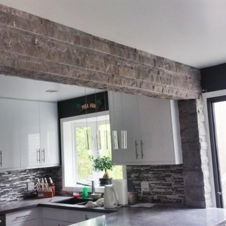Stark Carbon Splitface installed in a kitchen