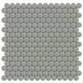 Element Smoke Penny Round Glass Mosaic