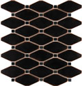 Satin Metal Oil Rubbed Bronze Clipped Diamond Mosaic
