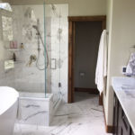 Calacatta Gold Marble installed in a bathroom