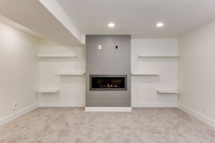 Prima Mica Porcelain installed on a fireplace
