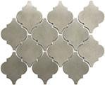Satin Metal Nickel Arabesque Mosaic