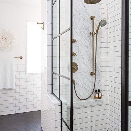 Soho White 3x6 Bathroom Wall Installation