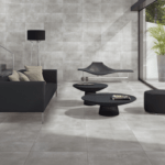 Concreto Dark Grey installed in a modern living room