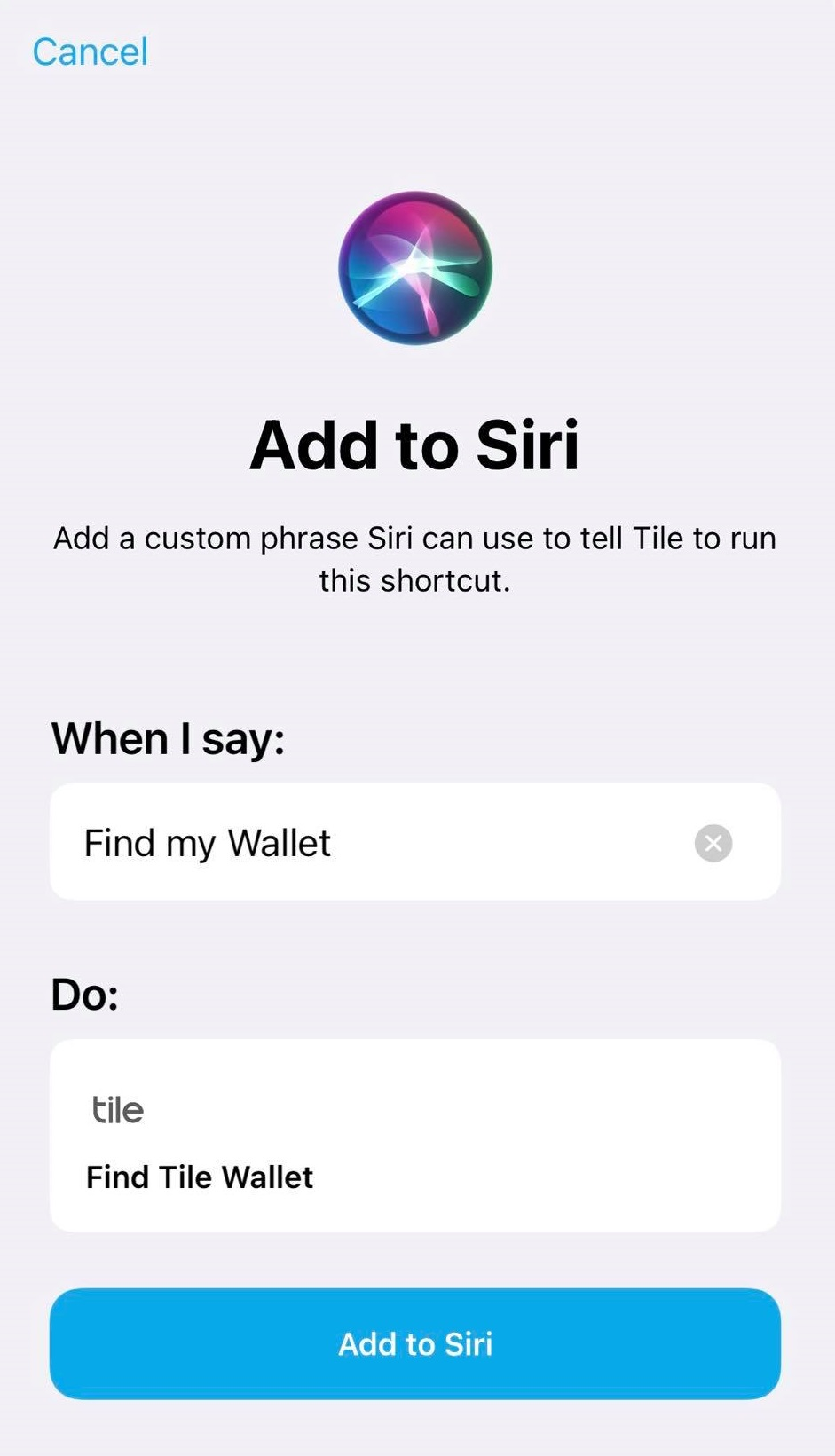 how can i use siri to find my tiles