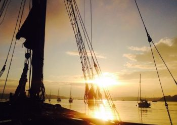 Fully catered Thames barge trip
