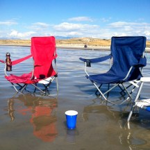 Bridger Bay Beach on the north end of Antelope Island