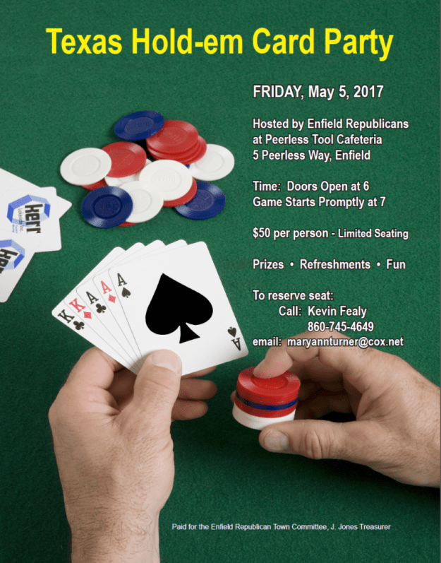 Texas Hold'Em Party 5-5-17 Enfield CT
