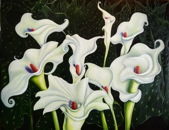 Whirling Dervish Call Lillies by Selma Tufail