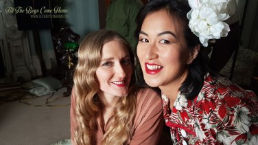 """Sarah Hallam as """"Anne"""" with Jessica To as """"Qingshan"""""""