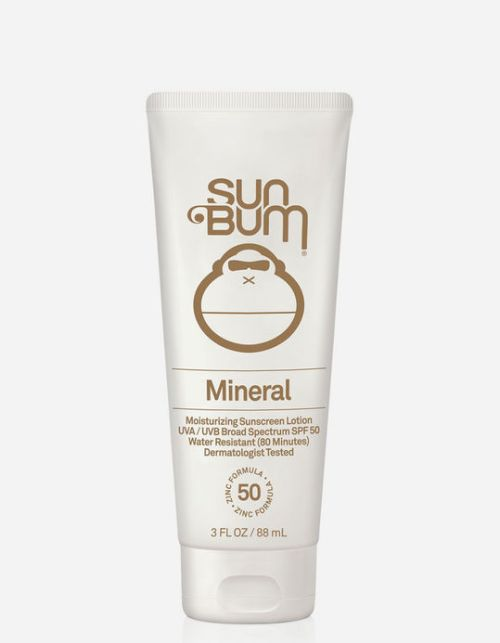 Sun Bum SPF 50 Mineral Sunscreen Lotion is a moisturizing and water repellent sunscreen. A summer essential that needs to be on everyone's checklist.