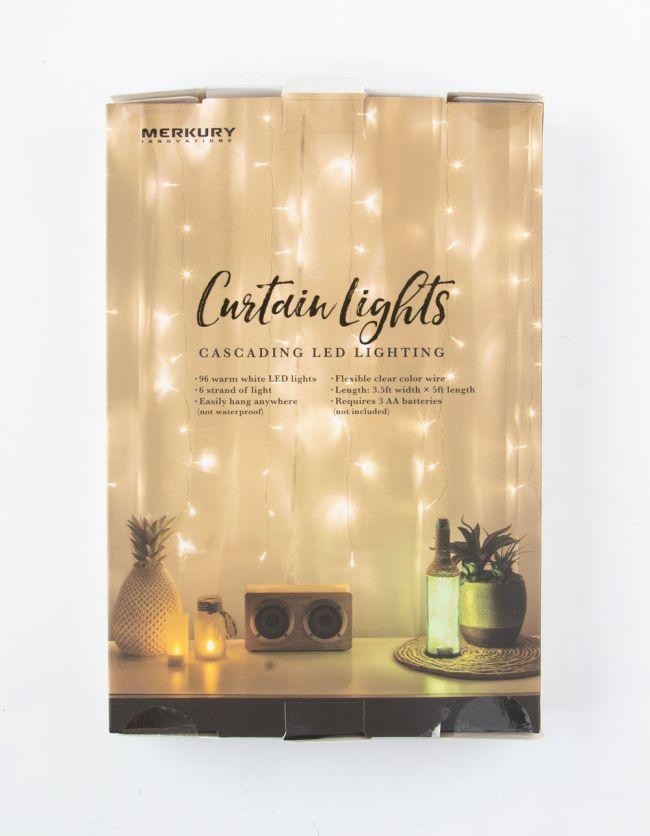 Merkury Innovations Cascading LED White Curtain String Lights