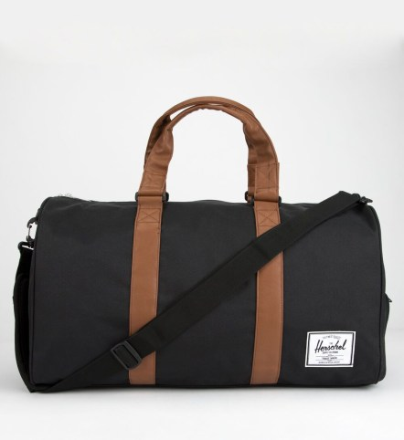 Herschel Supply Co. Novel Black & Tan Duffel Bag