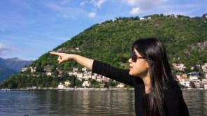 Cathy at Lake Como