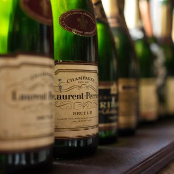 Wine and champagne bottles