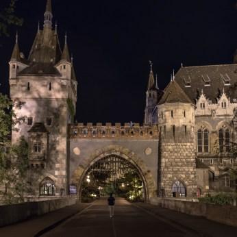 Walking into a castle