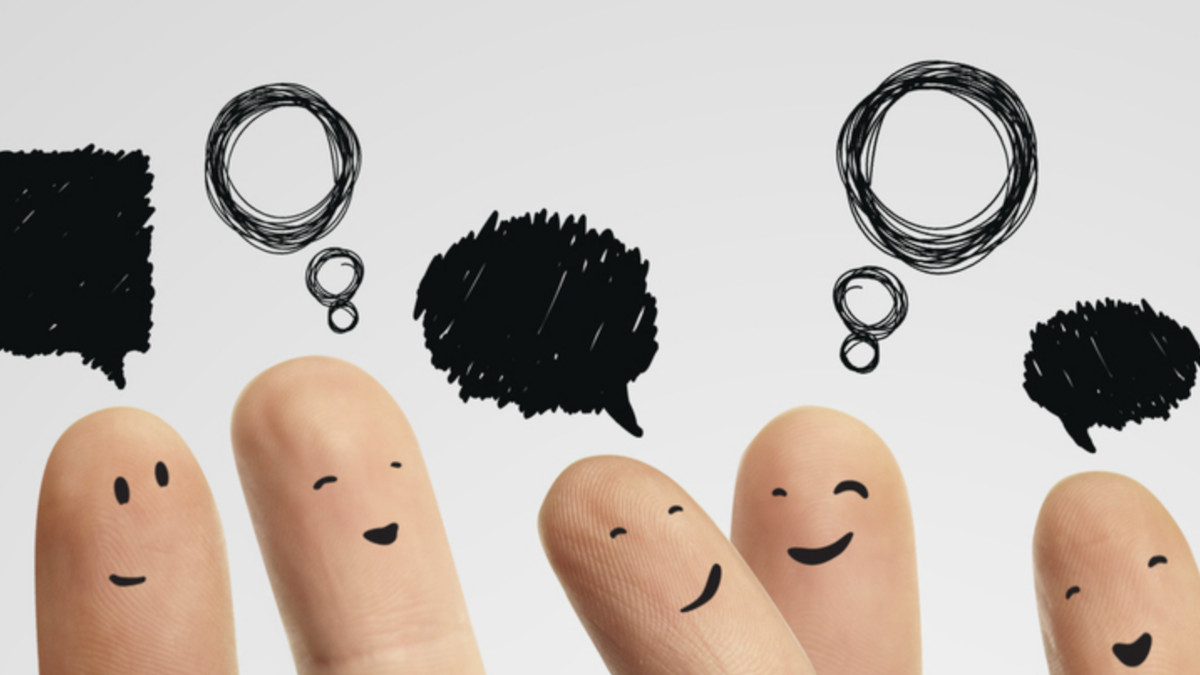 Finger som snakker sammen