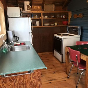cabin two kitchen