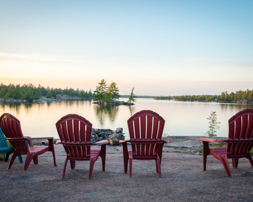 chairs in front of the french river