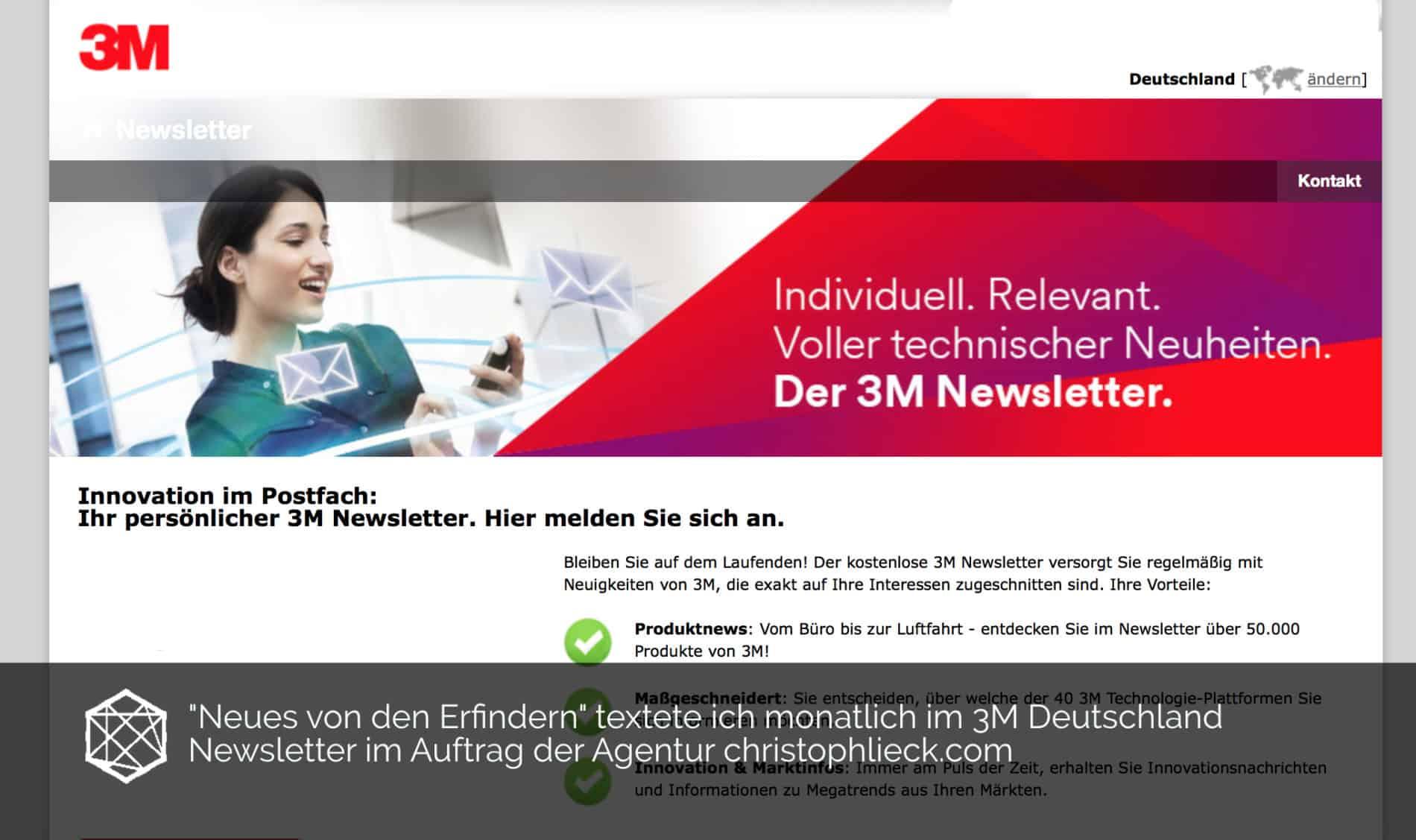 3M Newsletter Tim Allgaier
