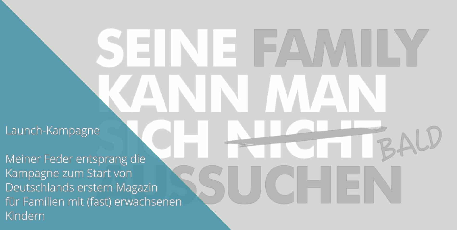 FamilyNEXT Launch Kampagne Arbeitsprobe Tim Allgaier Texter PR Freelancer Werbetexter köln