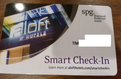 Aloft Smart Check-In RF Card