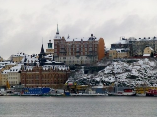 View of Stockholm - a winter wonderland