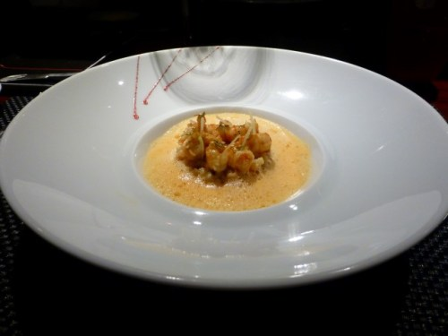 LES ECREVISSES - Roasted crayfish with fregula pasta and coralline emulsion