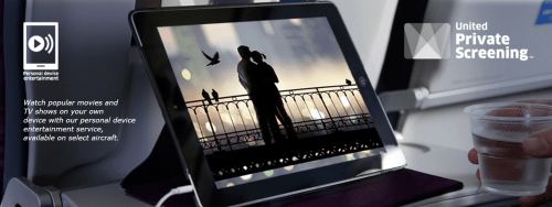 Personal Device Entertainment - Photo Courtesy of United.com