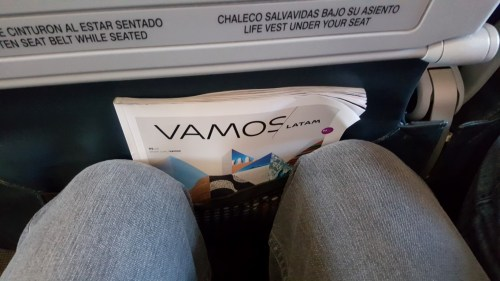 Relatively good pitch on LATAM. Not too bad for a pretty short flight.