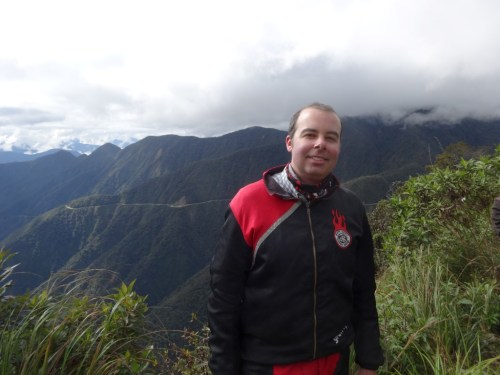 Making my way down the World's Most Dangerous Road in Bolivia