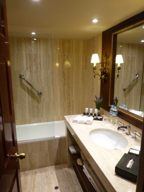 The full bathroom in our suite.