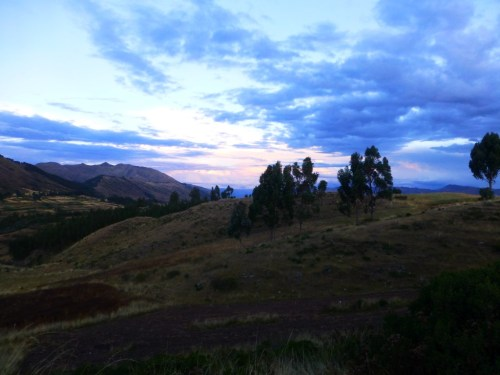 Twilight over the Incan landscape